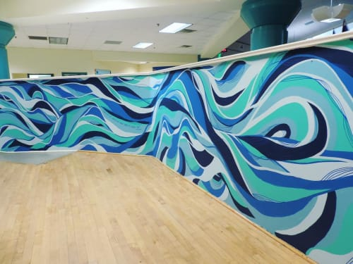 Murals by Shaylen Amanda Broughton at Lucille M. Brown Middle School, Richmond - Interior Mural