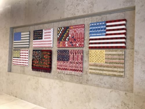 Interior Design by E Pluribus Art Flags by Muriel Stockdale seen at 315 Hudson St, New York - E Pluribus Installation 315 Hudson Street Lobby