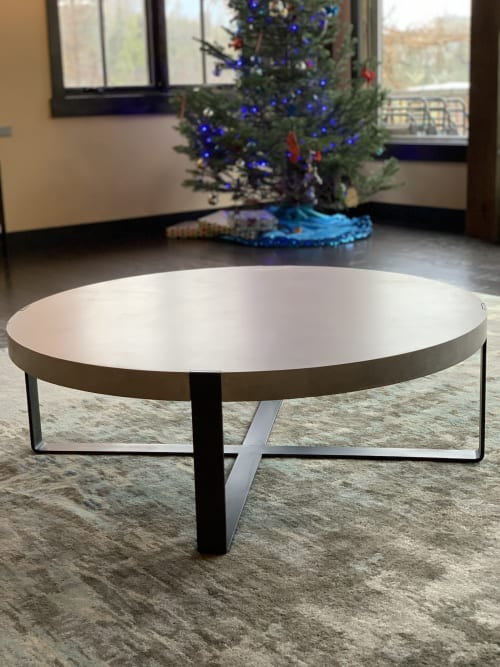 Tables by Woven 3 Design seen at Lion Mountain - Concrete Coffee Table - Round