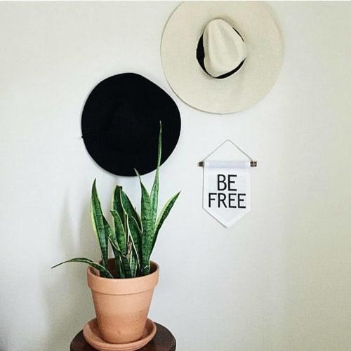 """Wall Hangings by Studio Wildflower seen at Las Vegas, Las Vegas - """"Be free"""" banner"""