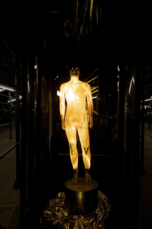 Public Sculptures by Garret Kane seen at Private Residence, New York - Neon God