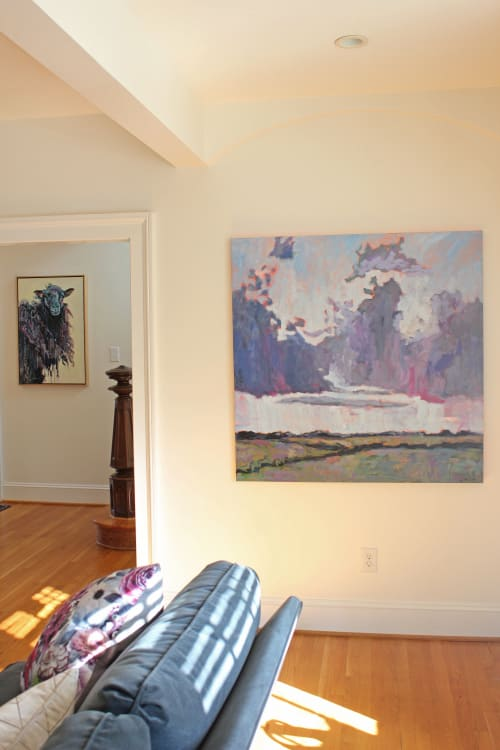 "Paintings by Carson Overstreet Fine Art seen at Private Residence, Richmond - ""Beyond the Blue"""