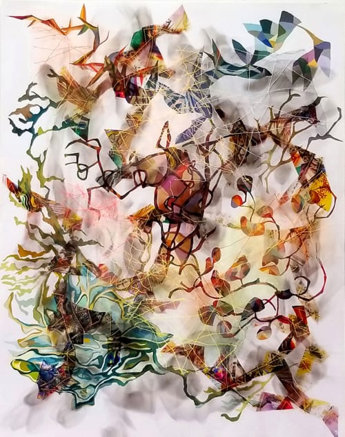 Paintings by Holly Wong seen at Private Residence, San Francisco - Calypso III