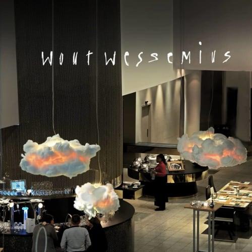 Pendants by Wout Wessemius seen at Dutch Design Hotel Artemis, Amsterdam - Cloud light 'le Nuage'