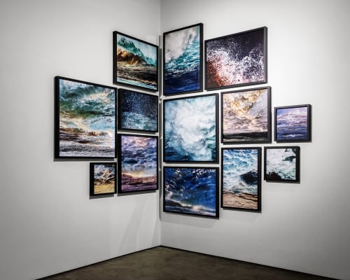 Photography by Tabitha Soren seen at Palo Alto Art Center, Palo Alto - Panic Beach Oceanscapes