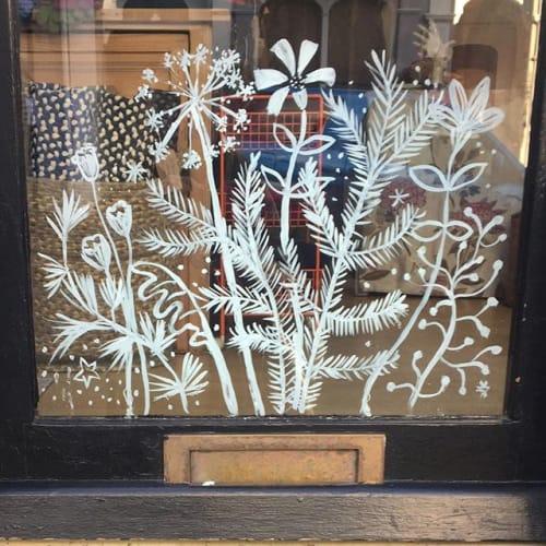 Murals by Jane Cabrera seen at 30 West St, Ashburton - Winter Wonderland, Window Art