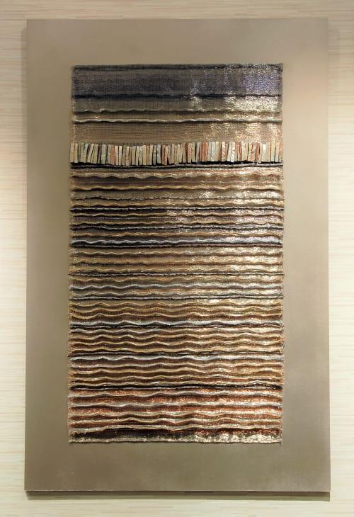 'Seashore 1' Woven Panel, 'Seashore 2' Woven Panel. | Art & Wall Decor by Jan Bowman Designs