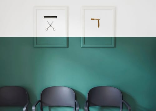 Paintings by Design for Love seen at Alessandro Acconciature per Uomo, Santa Croce Camerina - Paintings