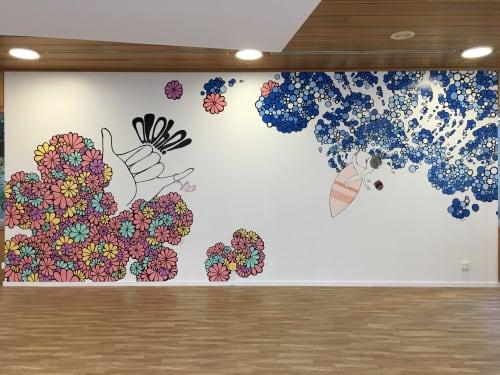 Murals by Kris Goto seen at Waikiki - Best Anniversary - Mural