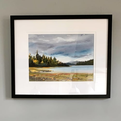 "Paintings by Enda Bardell seen at Haida Gwaii - ""APPROACH (Haida Gwaii)"" Painting"
