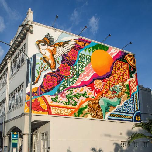 "Murals by Sam Lo seen at Shake Shack, Singapore - ""Community"" Mural"