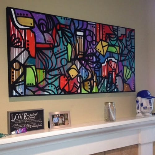 Paintings by Mouse Rawk seen at Private Residence, Thousand Oaks - Abstract Painting