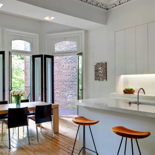 Chairs by From the Source seen at Private Residence, New York - Perch Counter Stools