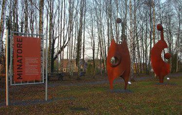 "Public Sculptures by VINCENT seen at Mining History Centre, Lewarde - "" MINATORE 1"" Universal Man"