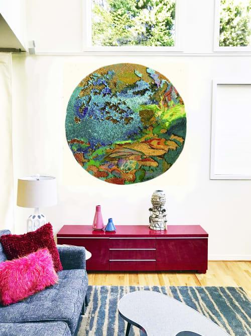 Paintings by Leisa Rich seen at Buckhead, Atlanta - Viewer Interactive Painted Sequin Circle
