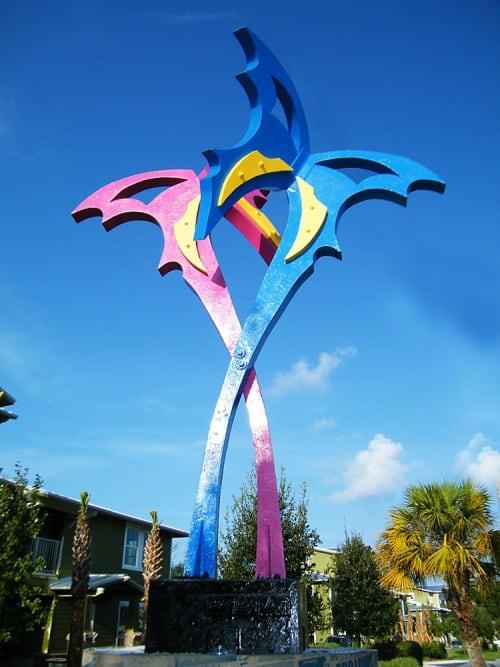 Public Sculptures by Gus Lina Fine Art seen at 402 E Morgan St, Tarpon Springs - Butterflies