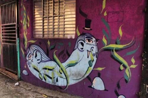 Street Murals by Ramon Sales seen at Paraisópolis, Paraisópolis - Wall mural