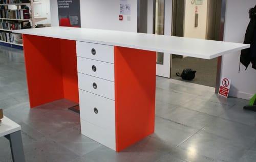 Furniture by CHARLIE CAFFYN FURNITURE seen at London, London - Reception Desk