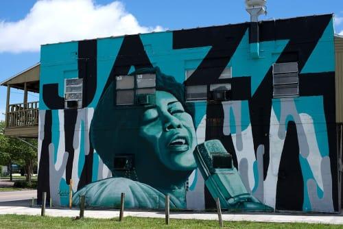 Street Murals by Zulu Painter seen at The Deuces Live, Inc., Saint Petersburg - Ella Mural