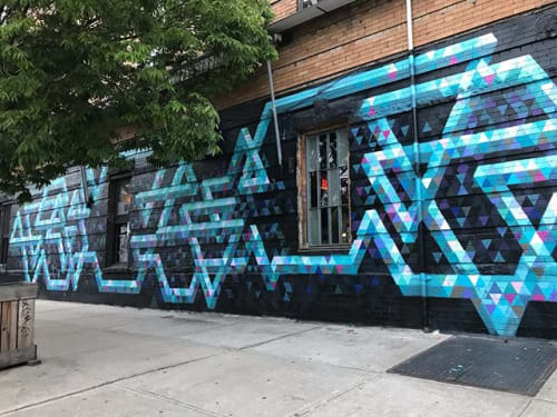 Street Murals by Chris Soria seen at Heavy Woods, Brooklyn - Willoughby Configuration