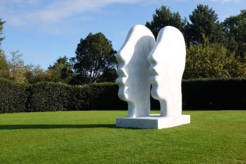 Sculptures by Paul Vanstone Sculptures seen at Royal Botanic Gardens, Kew, Richmond - Exhibition of works at Royal Botanic Gardens, Kew, London