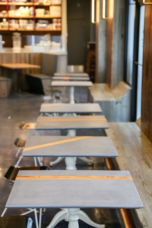 Tables by GoodWood seen at District Donuts, Baton Rouge - District Donuts | Bistro Tables
