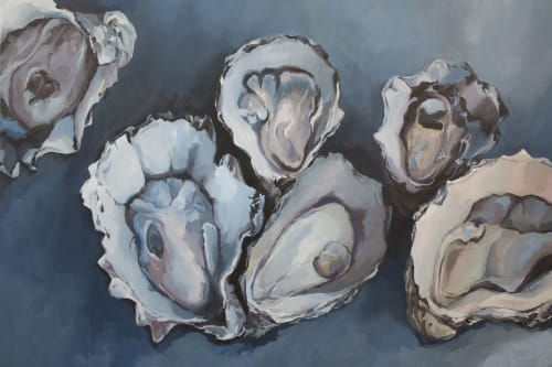 Paintings by Stephie Jones Art seen at Private Residence, Virginia Beach - No One Loves Like We Love, oyster painting