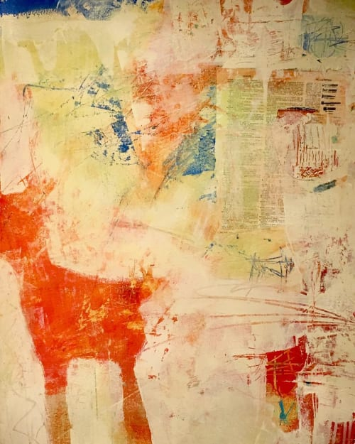 Paintings by Rachel Davis seen at Private Residence, Sausalito - Words With Puppy
