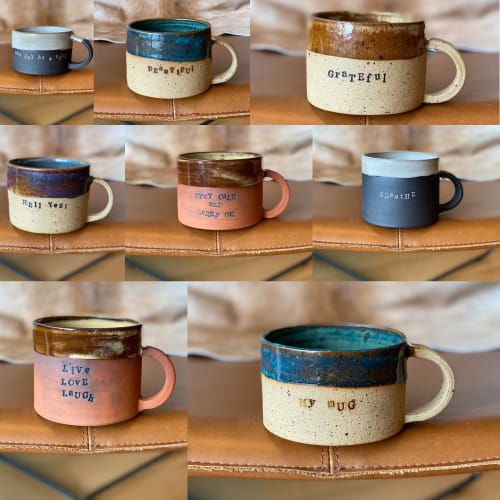 Cups by Lianna Klassen seen at Private Residence, Vancouver - Word Mugs