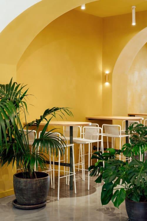 Architecture by MESURA seen at Barcelona, Barcelona - An indoor passageway -  Bunsen Restaurant