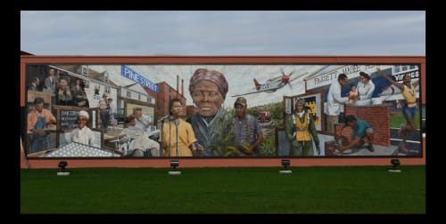Street Murals by Michael Rosato seen at Private Residence, Cambridge - Cambridge African American Heritage