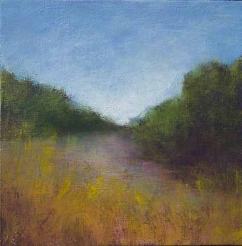 Paintings by Victoria Veedell seen at Private Residence, Boston - Group of small framed landscape paintings
