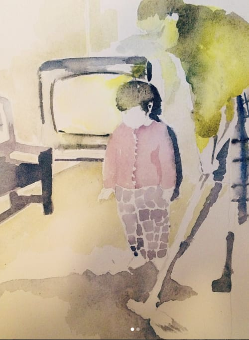 Paintings by Emilie Syme-Lamont seen at Private Residence, Denver - Larry the Poltergeist
