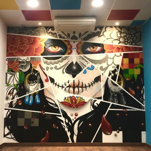 Murals by Asier Vera seen at Calle Alcón, 8, Ponferrada - Tío Juárez