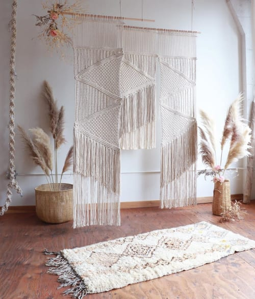 Macrame Wall Hanging by Modern Macramé by Emily Katz seen at Private Residence, Portland - Modern Macrame Wall Hanging
