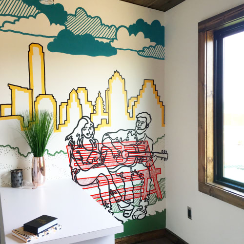 Murals by Avery Orendorf seen at Easton Park | Brookfield Residential, Cardinal Bloom Loop, Austin, TX, Austin - Welcome Home