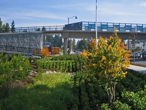 Public Sculptures by Vicki Scuri SiteWorks at Aurora Avenue at 151st Street & 160th Street, Shoreline, WA, Shoreline - Interurban Trail Bridges
