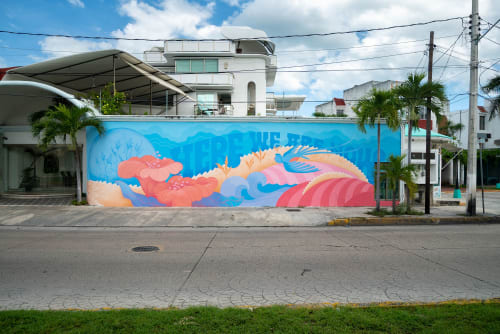 Street Murals by Kell Sunshine seen at Cancún, Cancún - Here we are Now