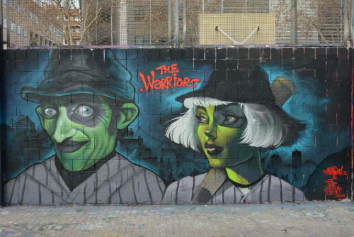 Street Murals by TURKESA @turkesart seen at Barcelona, Barcelona - Furies