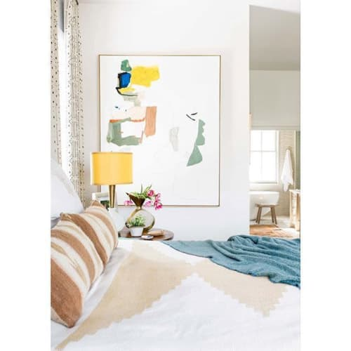 Linens & Bedding by Joinery seen at Private Residence, Sullivan's Island - Diamond Blanket