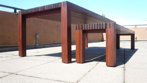 IPE outdoor table and bench | Tables by In Element Designs