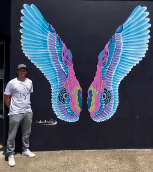 Street Murals by Derek Nemunaitis seen at 5118 W Lovers Ln, Dallas - Dallas Wings