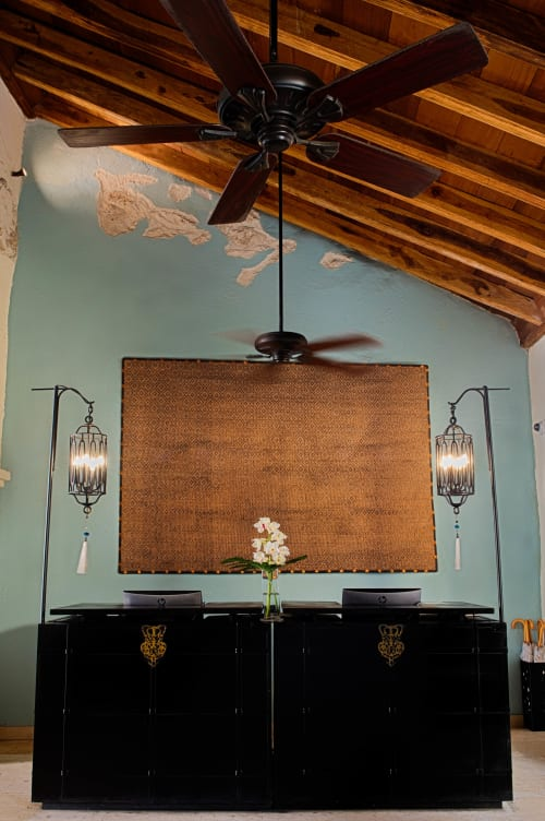 Wall Hangings by VERDI seen at TCHERASSI HOTEL + SPA, Cartagena - Fique & Copper Wall Hanging