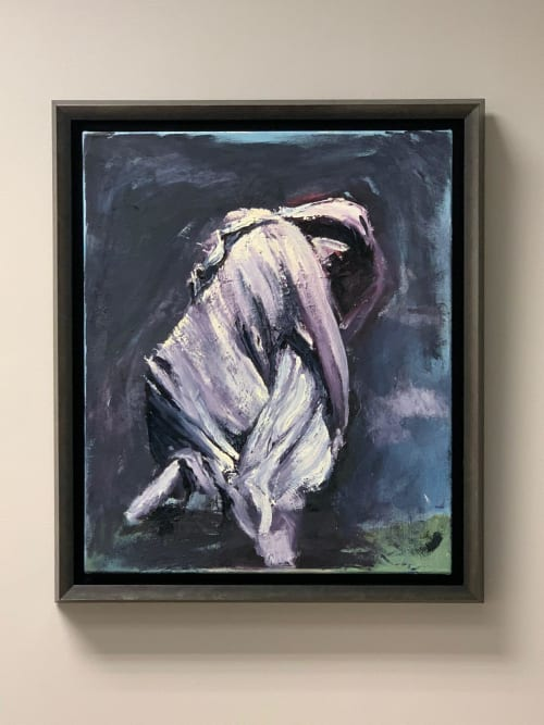 Paintings by Sahand V. ART seen at Private Residence, Atlanta - Weeping Woman( Gray Inman Statue@Oakland Cemetery, ATL)