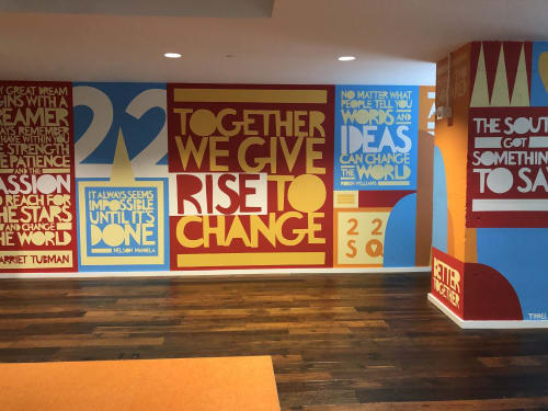 Murals by John Tindel seen at 22squared, Atlanta - Rise to Change
