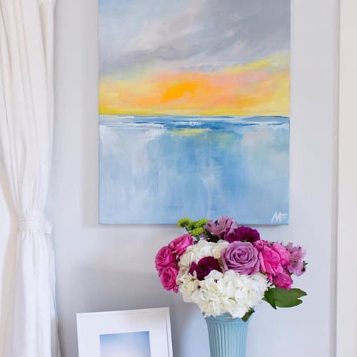 Paintings by Art by Megan seen at Private Residence, Annapolis - Sunset Beach