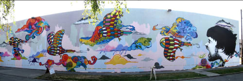 Baso Fibonacci - Street Murals and Murals