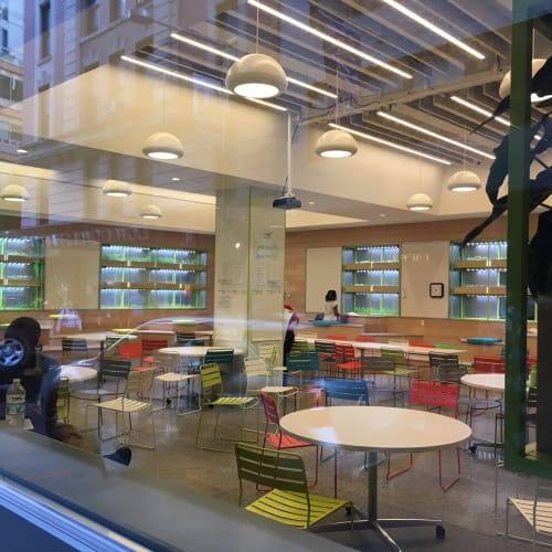 Pendants by CP Lighting seen at Blue School, New York - Chroma Pendant