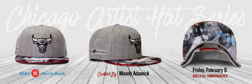 Apparel & Accessories by Madcanvases at Chicago Area, Chicago - Chicago Bulls Local Artist Hat Series