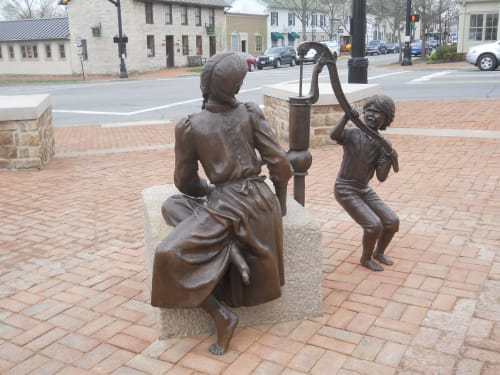 "Public Sculptures by Tizzano Sculpture LLC seen at Dublin, Dublin - ""Daily Chores"""